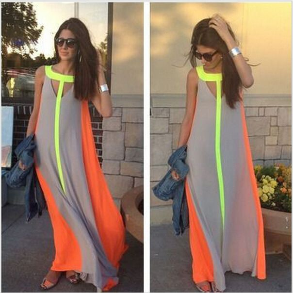Newest Sleeveless Summer Women Dress Big Skirt Floor-length_High Quality Wedding & Evening Prom Dresses at Factory Price-27DRESS.COM