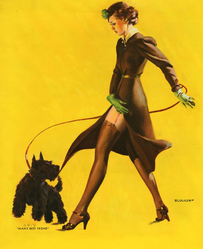 Elvgren: Scottie Dogs, Best Friends, Gilelvgren, Mans Best Friend, Pinupgirl, Pinup Girls, Gil Elvgren, Pin Up Girls, Scottish Terriers