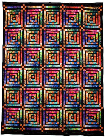 Infinity Squares quilt by Jan Hassard (UK)