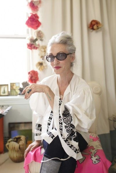 "Linda Rodin - ""I got the 'Christine' tattoo less than a month after my sister passed away on December 17, 2010. I also have a similar tattoo, Nick, on my inner right wrist, which I got for my nephew when he was in the army in Iraq. He's now home safe, and it kept me going while he was in harm's way for 3 years."": Dan Mcmahon, Advanced Style, Lindarodin, Nyc Apartment, Beautiful, Silver Foxes, Linda Rodin, Age Grace, My Style"