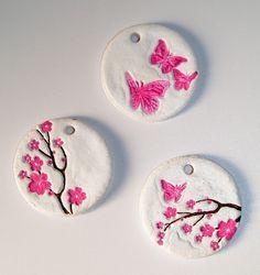 Salzteig Anhänger Kirschblüte