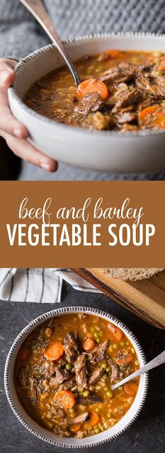 Beef And Barley Vegetable Soup - My Kitchen Recipes