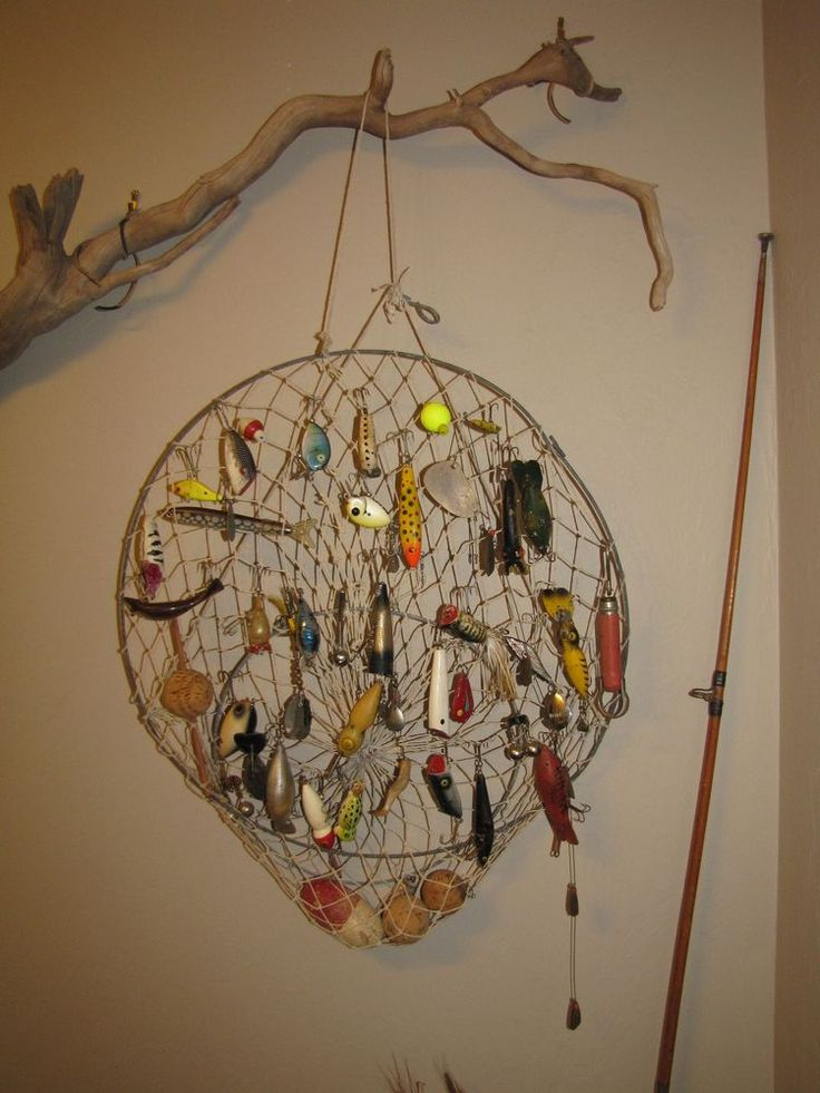 25 best ideas about old fishing lures on pinterest for Fishing lure decor