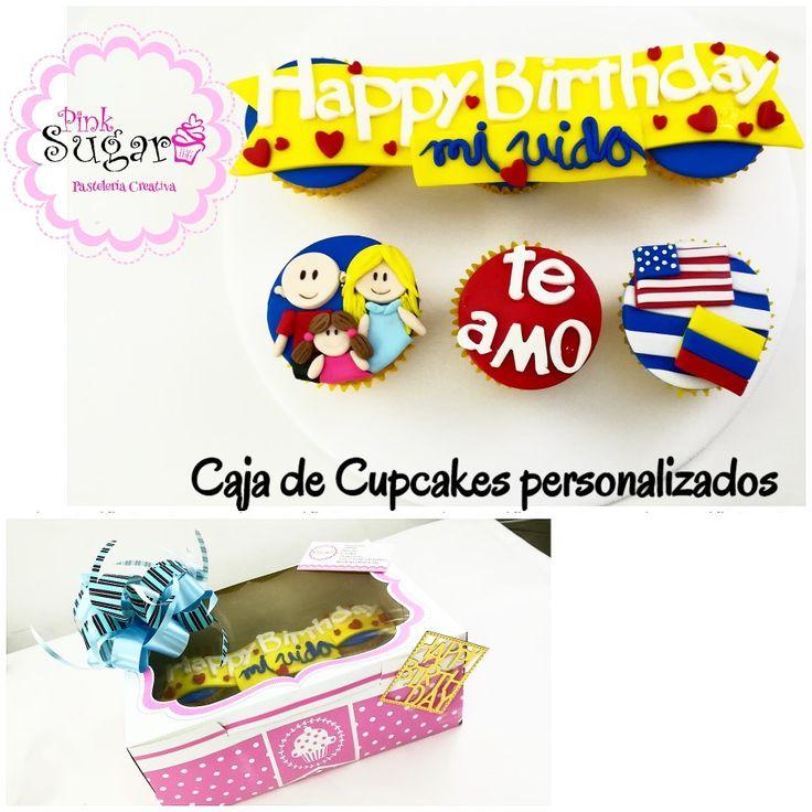 Cupcakes Happy Birthday familia Estados Unidos Colombia