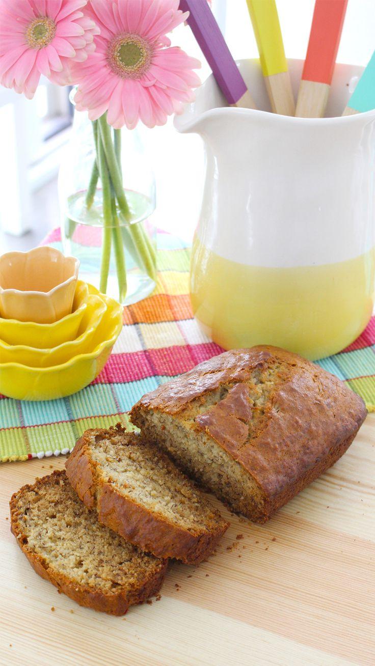 Recipe with video instructions: There is no better use for stale bananas than banana bread. Ingredients: 3 bananas (as ripe as possible), 6 tbsp vegetable oil, ½ cup sugar, 1 egg, 1tsp vanilla extract, ¼ tsp salt, 1 1/2 cups all-purpose flour, 1 tsp baking soda, 1 tsp baking powder