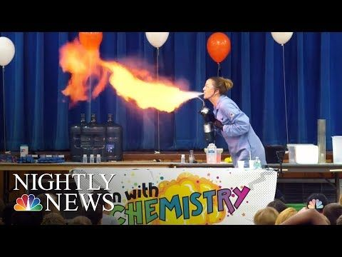 Teacher Makes Chemistry Fun With Exploding Experiments | NBC Nightly News - YouTube