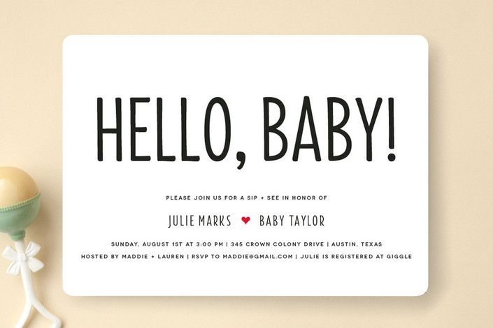Mod Sip and See Baby Shower Invitations by Fig and Cotton Paperie at minted.com
