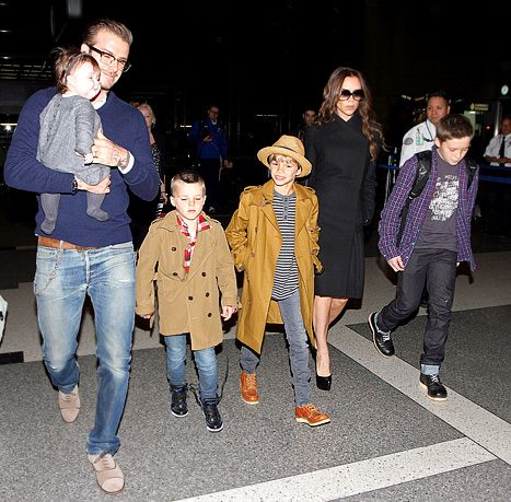 David Beckham, Victoria Beckham, and kids
