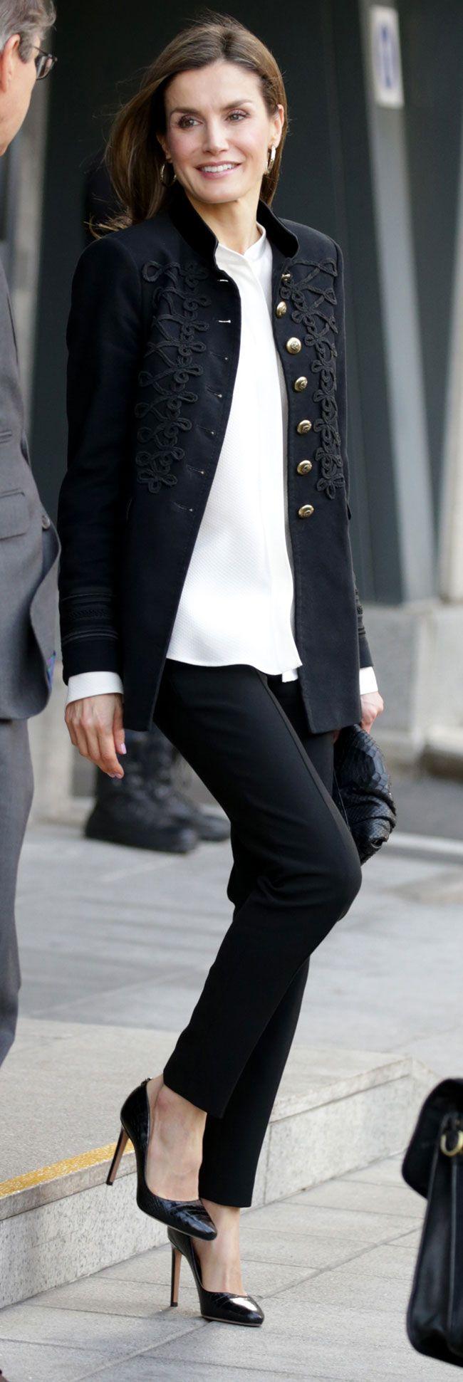 HM Queen Letizia of Spain in Madrid for a Fundéu BBVA meeting - Feb 2017