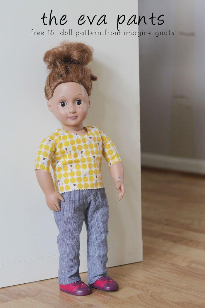 sewing: the eva pants {free 18 doll pants pattern} || imagine gnats