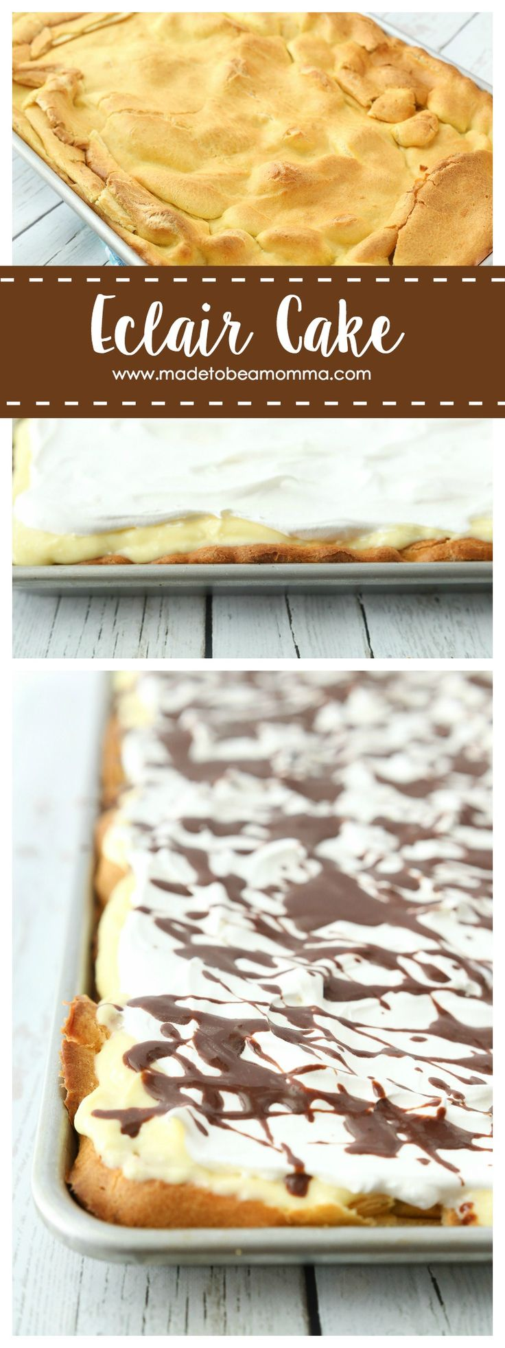 Eclair Cake - my parents used to make this all the time growing up! Great dessert to impress and tastes amazing!