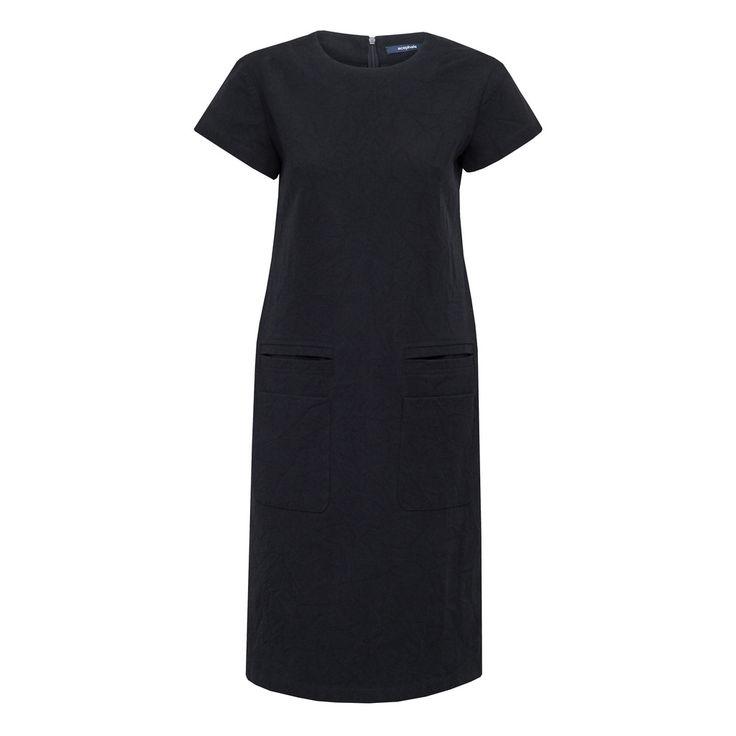 Sukienka z gniecionego denimu