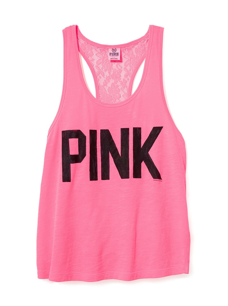 Dreaming Of A PINK Summer: Pink Summer, Victoria Secret Pink, Pink Clothing, Pink Tanks, Tanks Tops, Aprons, Lace Back, Pink Racerback, Pink Clothes