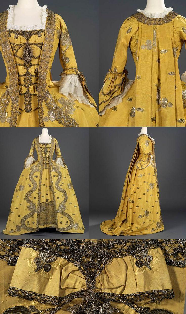 1750s Silk Robe Francaise