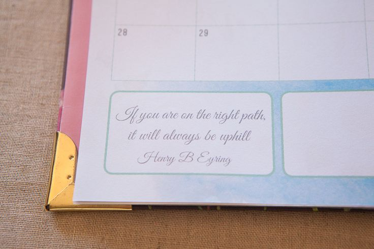 LDS Mormon planner LDS quote