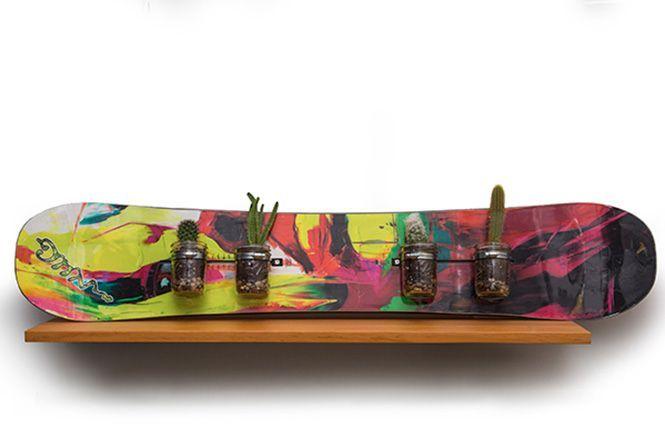 10 idées originales pour recycler sa planche de snowboard usagée !
