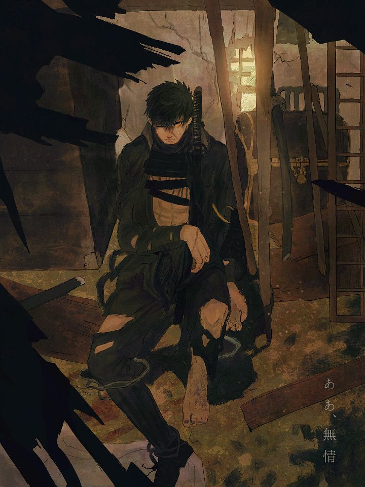 無用の剛刀は刀の本懐の夢を見るか? ■まっぴーこと端末さん(@tanmatsuki)の絵を恐れ多くも塗らせていただきました!