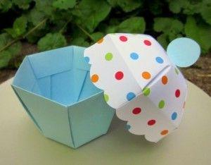 Molde para hacer cajas con forma de cup cake (2)