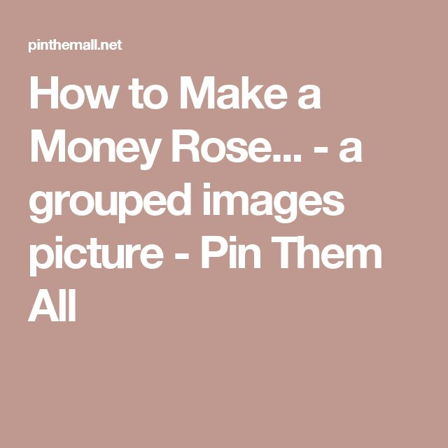 How to Make a Money Rose... - a grouped images picture - Pin Them All
