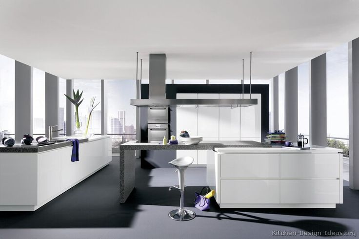 #Kitchen Idea of the Day: Modern white kitchens. (By ALNO, AG)