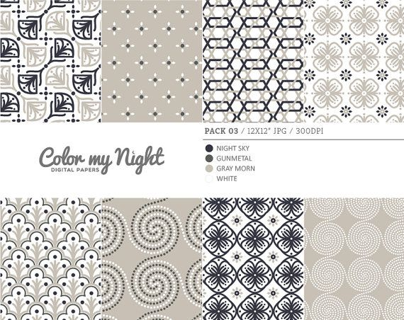 Digital Paper Neutral 'Pack03' Scrapbook Papers by ColorMyNight