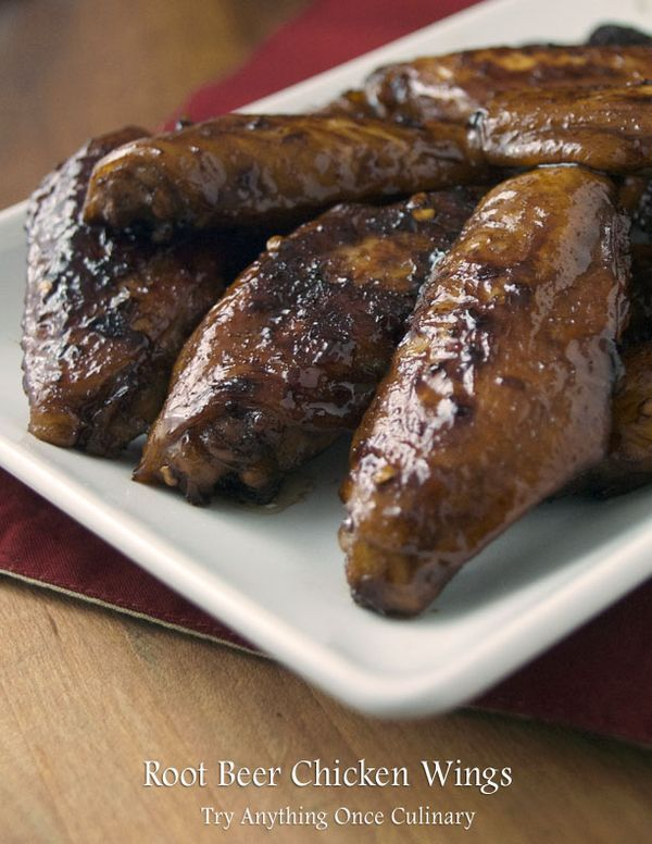 Root Beer Chicken Wings recipe from tryanythingonceculinary.com | You'll want to make these for your game day/ homegating party!