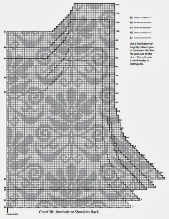 Вязание: Жаккардовый жилет