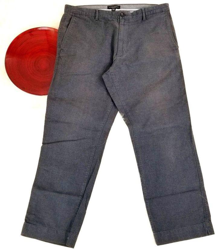 Banana Republic Mens Pants Size 34x30 Gray Straight Leg Chino Khakis o630 #BananaRepublic #KhakisChinos