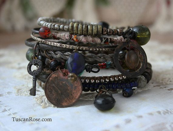 Bangle stack on Etsy by Tuscan Rose