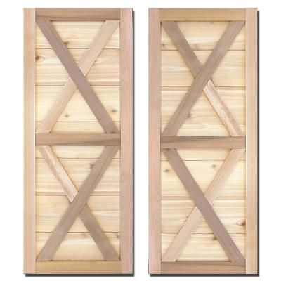 visit the home depot to buy design craft millworks 15 in natural cedar southerland shutters pair - Shutters Home Depot
