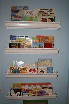 Make rain gutter book shelves | TheWHOot