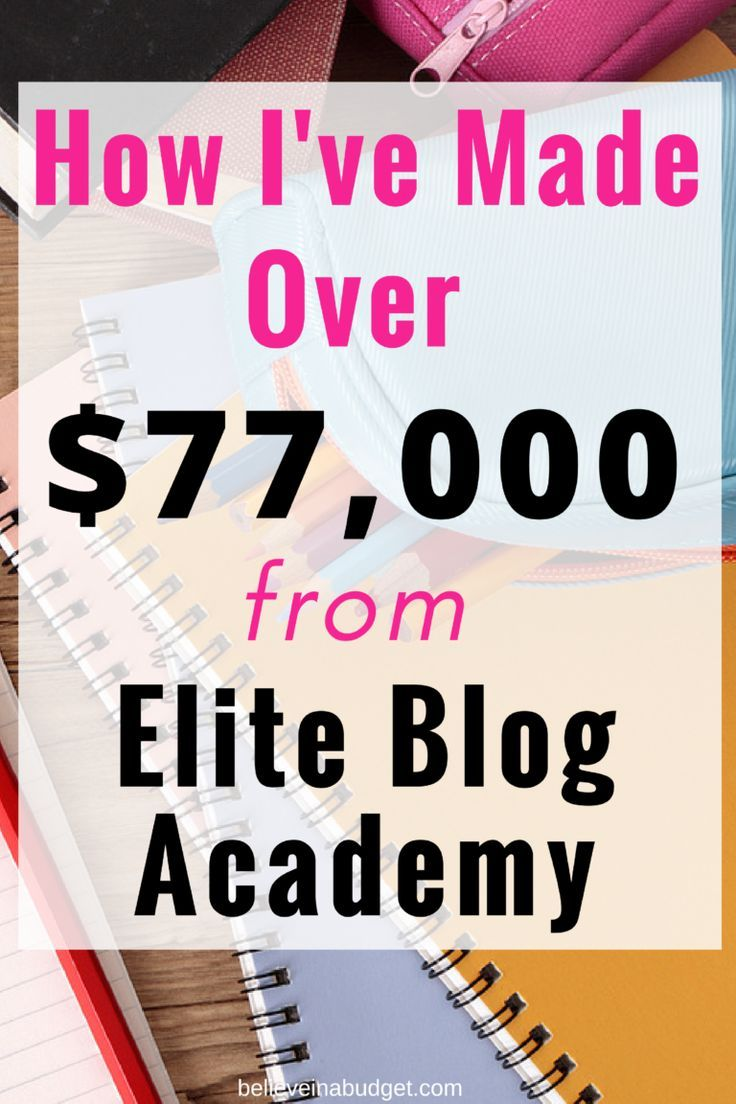 Elite Blog Academy has helped my blog make over $77,000 to date! If you have been debating whether or not EBA is the right fit for you, read my honest review of Elite Blog Academy here.