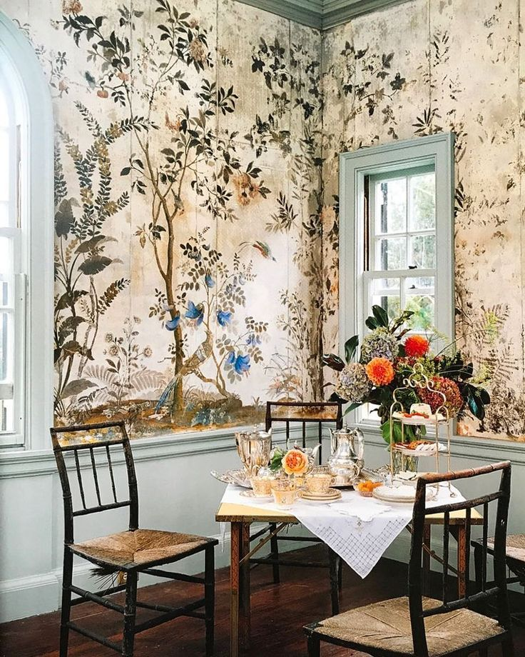 The appealing naturalistic wallpaper offset by solid