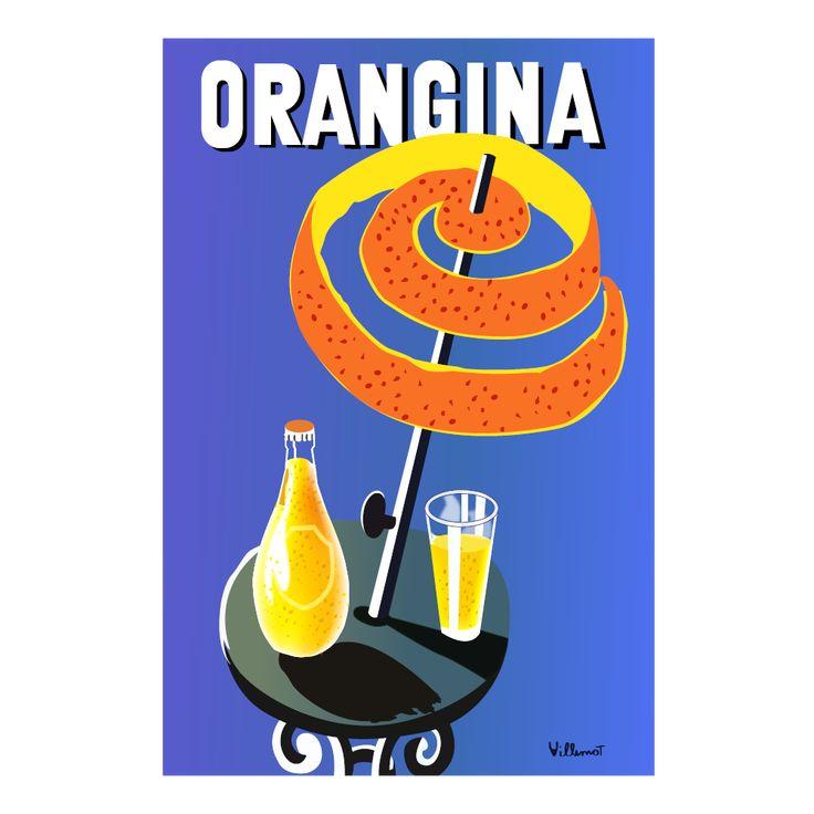 Orangina Umbrella Vintage Poster