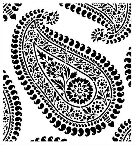 Paisley stencil from The Stencil Library STENCIL IT range. Buy stencils online. Stencil code SIB16-S.