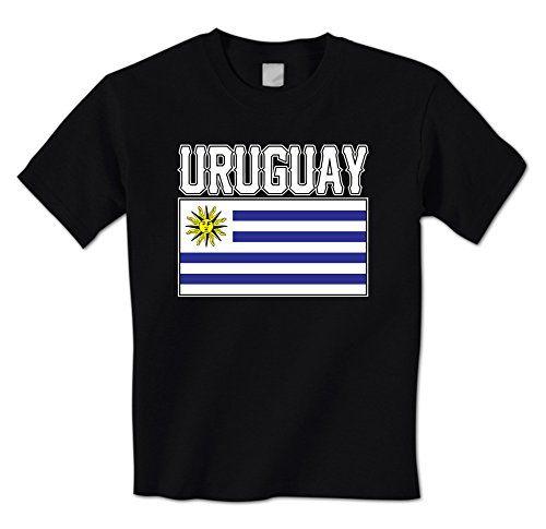 GILDAN man t shirt Bold Uruguay Flag Lettering - Uruguayan South American Latin Pride Mens T-Shirt