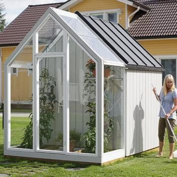 great idea for a garden shed with a small greenhouse attached - Garden Sheds With Greenhouse