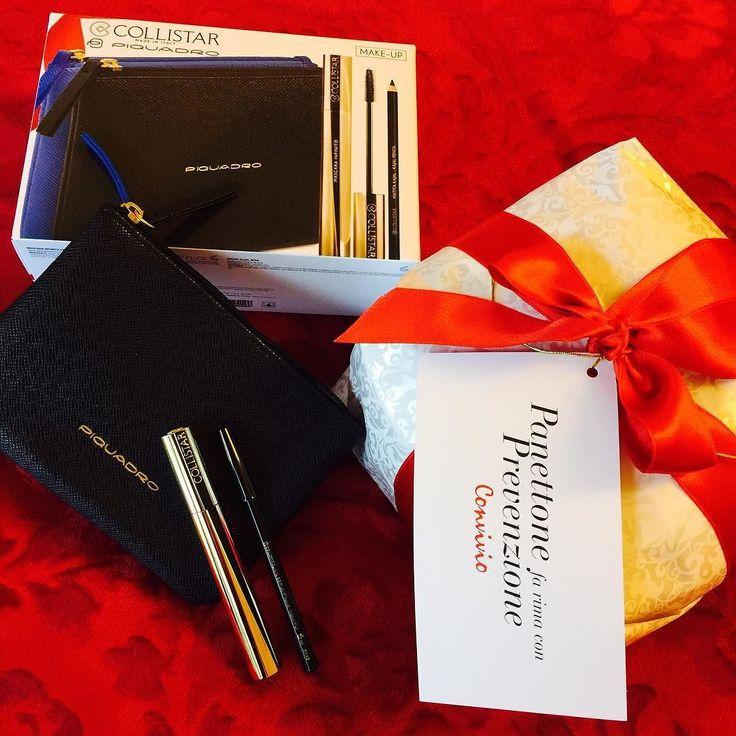 Grazie a @collistarbeauty che sostiene #ANLAIDS (Associazione Nazionale per la lotta contro lAIDS) in collaborazione con #Convivio. Una bellissima idea per ricordarci l'importanza della prevenzione.  Collistar ci segnala anche l'uscita dei cofanetti regalo per Natale in collaborazione con #Piquadro. In foto vedete il grazioso kit Mascara Infinito: al prezzo del solo mascara si ha anche la Matita Kajal Occhi Nera e la Pochette Nero/Blu Piquadro (prezzo 2750 Euro)  #christmasiscoming…