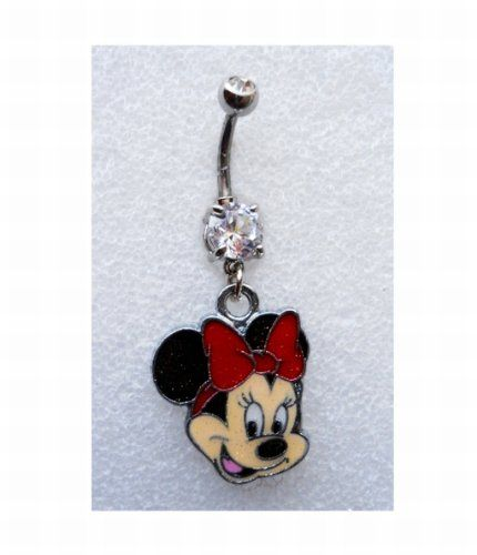 MINNIE MOUSE W/ SPARKLES Navel Belly Button Ring Body Jewelry Piercing body jewelry http://www.amazon.com/dp/B00HJB3762/ref=cm_sw_r_pi_dp_7NENtb1JC214PTF1
