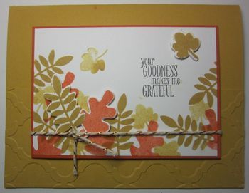 Fall Fest Makes Me Grateful Cards - fall fest, leaves, fall, autumn, thank you, stampin' up