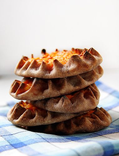 Finland - Karelian Pasties, made w/rye flour. Used to make these ~ and then top w/hardboiled egg butter. My mouth is watering!!