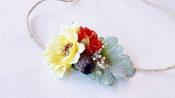 Newborn tieback -  Australian Tropical Tieback / Stretch headband - floral tieback