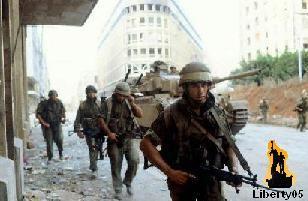 Lebanese Civil War 1982, Israeli troops in Beirut