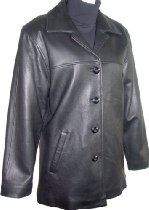 5004 PREMIUM Grade Real Genuine Black Soft Supple Light Lambskin Leather Classic Traditional Pea Coat Blazer Jacket Notched Lay Down Collar Button Front Closure Slant Pocket Silky feel Pocket Lining Nylon, Lined, Regular Fit, ZIP OUT FAKE FUR VELOUR LINER, Petite Regular Plus Size