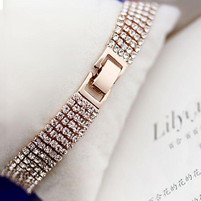 Элегантная мода горный хрусталь дамы краткое кристалл multi-layer кисточкой браслет женский богемия B017