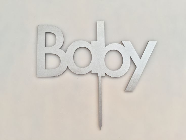 Cake topper for baby shower by elchangarromty #lasercut #babyshower #design #elchangarromty