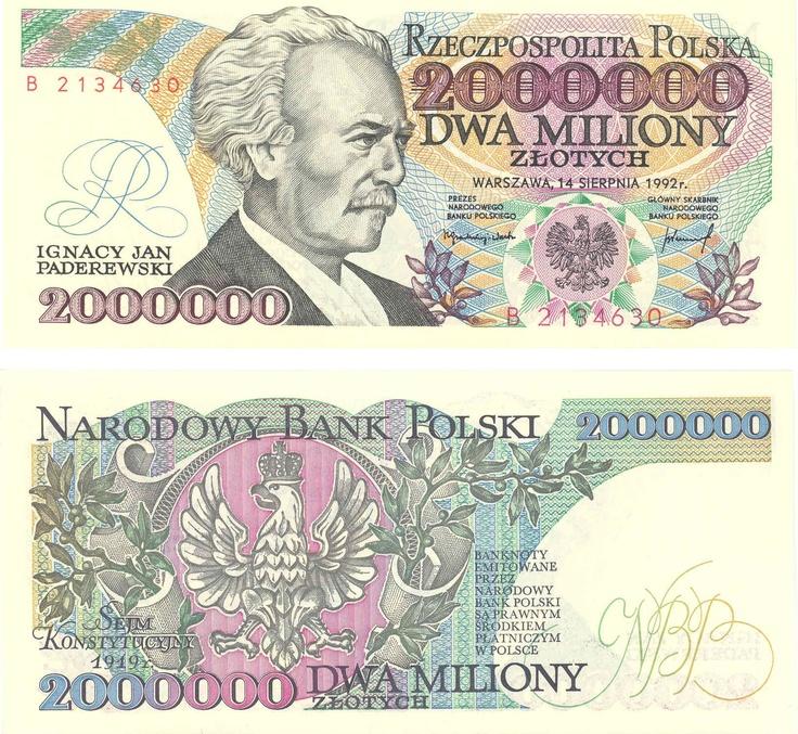 ....banknoty ''przed wymianą''- dwa miliony -obecnie 200 złotych