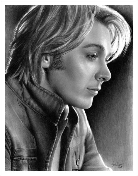IMAGINEE :clay aiken: Graphite Pencil Artist Linda Huber -