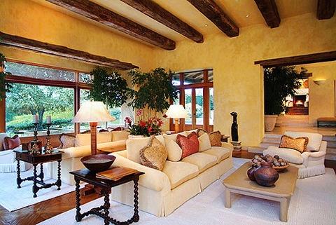 1000 ideas about exposed beam ceilings on pinterest - Ville americane interni ...