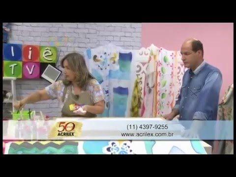 Acrilex - Artesanato - Pintura em cangas de praia